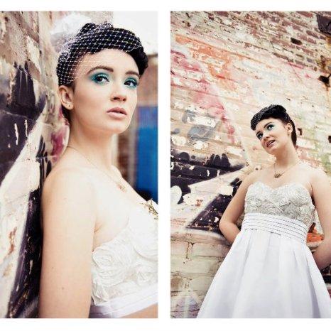 Model Rachel Jones wearing dress Chastity Rose