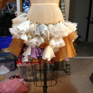 Tiger Lily Skirt under construction
