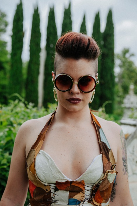 Photographer: Amy Fullam MUAH: Ryatt Fienix Bodice Designer: Nancy Couture Model: Ryatt Fienix Sunglasses: Mad Style